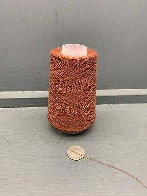 200G CONES 100/% LINEN 2//26NM FINE YARN RUSTY ORANGEY BROWN RUGGINE