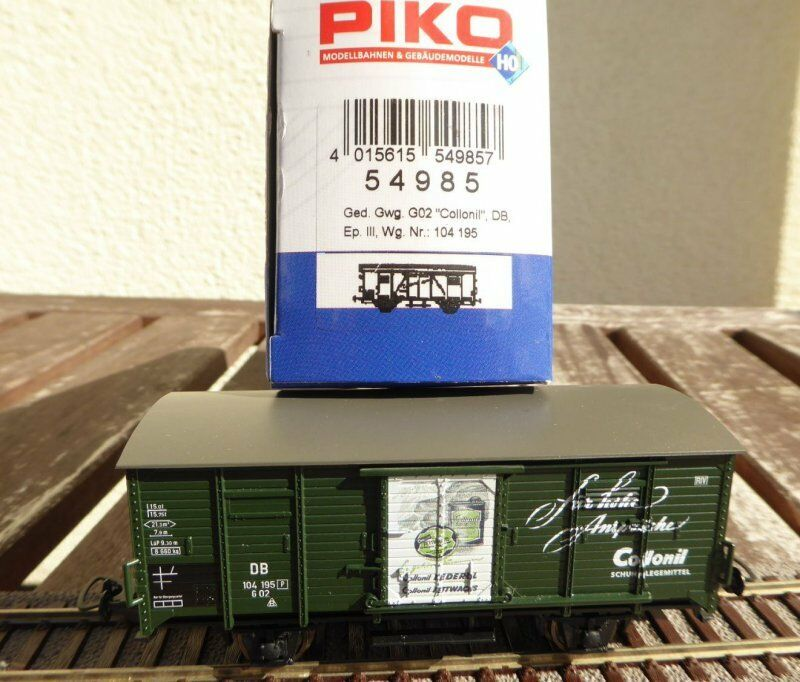 PIKO 54985 h0 Boxcar g02 collonil Care shoes DB ep.3, Very Good in