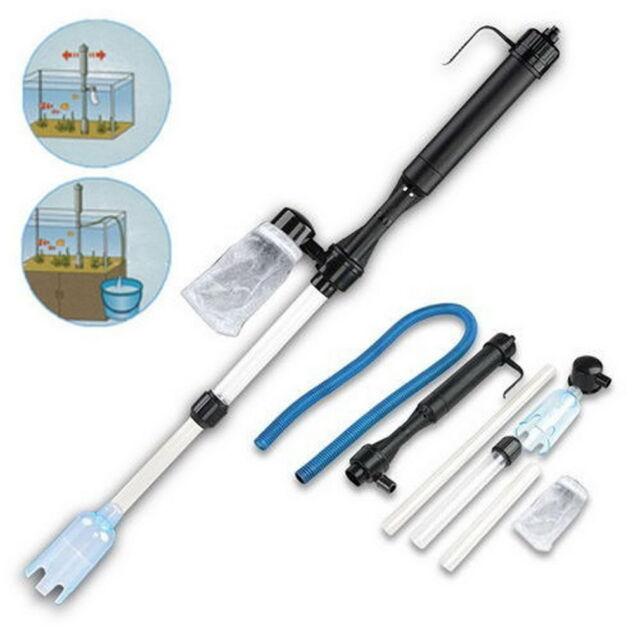 Aquarium Gravel Battery Fish Tank Vacuum Siphon Cleaner Pump Water Filter KK