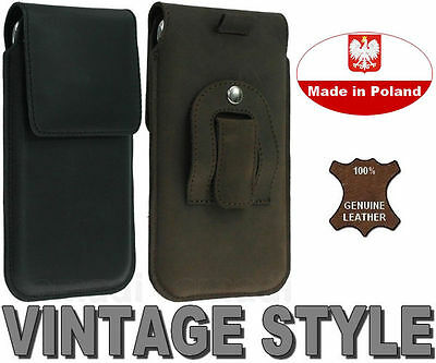 FLAP GENUINE LEATHER HOLSTER WITH BELT CLIP CASE POUCH COVER    RANGE OF MODELS