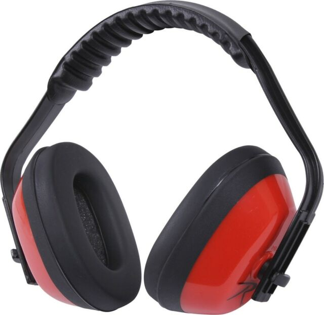 Red Padded Noise Reduction Ear Muffs Shooting Protection