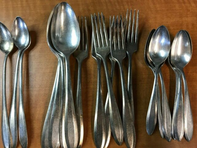 Antique COMMUNITY 1914 PATRICIAN Shell Bowl Ice Cream Fork 5 12 Set of 12