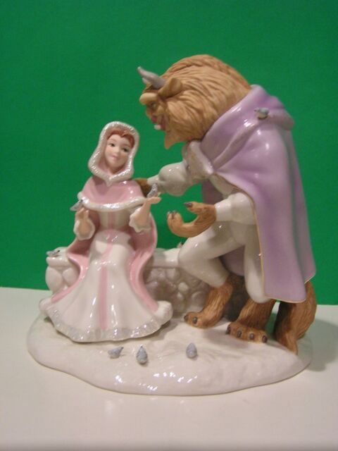 LENOX LOVE'S FIRST TOUCH sculpture NEW in BOX with COA Beauty and the Beast