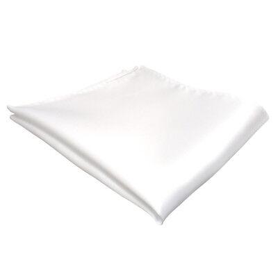 schönes gewebtes Einstecktuch in der Farbe Reinweiß Weiss - Tuch zu 100% Seide