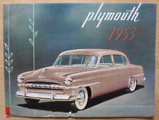 PLYMOUTH orig 1953 Export sales brochure - Cranbrook Cambridge