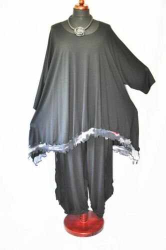 e Wave Black Multicolor Arc e Large Tunic Long Jersey Overlay Aq4w0gEB