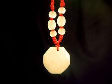 FSH180 Feng Shui Jade Talismen/Lucky Charm Hanger: Bagwa/Bagua Yin Yang
