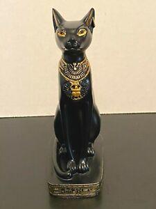 "Vintage Summit Collection Black Egyptian Cat Goddess Statue Figurine 5 1/2"""
