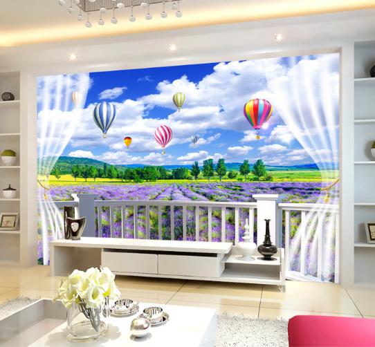 3D Garden Balloons 98 Wallpaper Mural Paper Wall Print Wallpaper Murals UK Carly