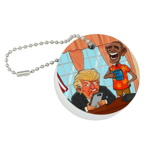 Obama Laughing at Trump Funny President Round Floating Foam Boat Keychain