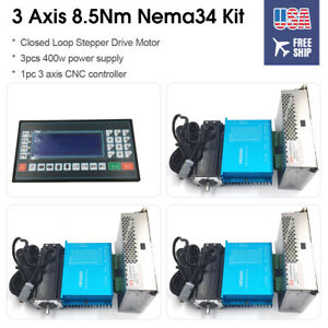 3-Axis-1214oz-in-Closed-Loop-Nema34-Stepper-Motor-DSP-Drive-Power-Supply-Control