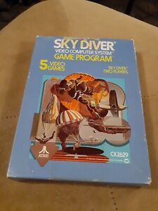 SKY-DIVER-for-ATARI-2600-COMPLETE-IN-THE-BOX-FREE-SHIPPING