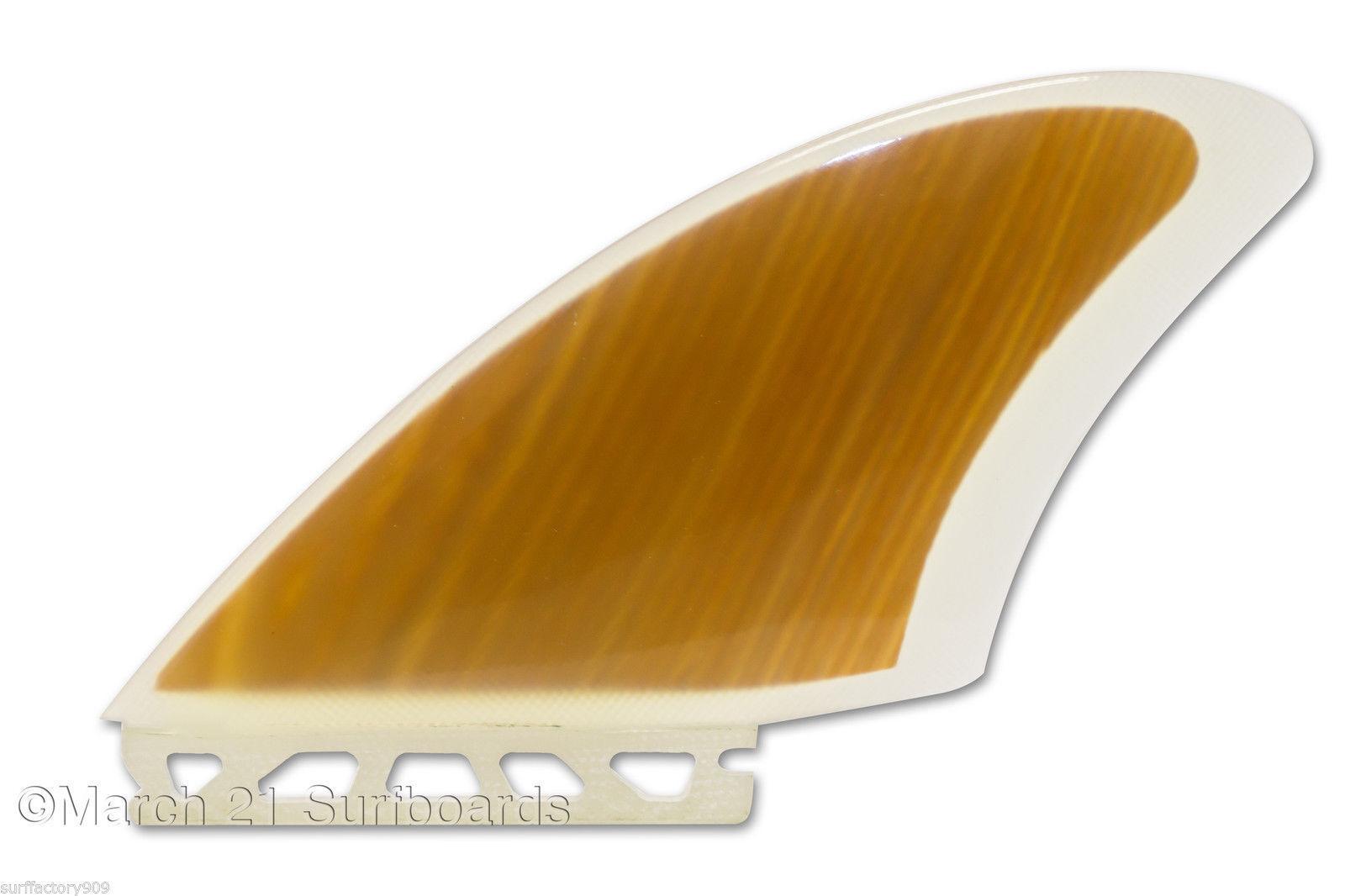 Futures or FCS Cutaway Keel k2 Fins Light Wood Veneer 1 pair Surfboard