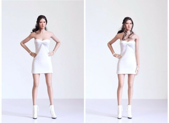 1/6 Scale Female Sexy White Dress Model for 12 inches PH