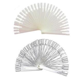 Hot-Nail-Art-False-Tips-Sticks-Practice-Display-Fan-Colour-Swatch-Design-Tool-FI