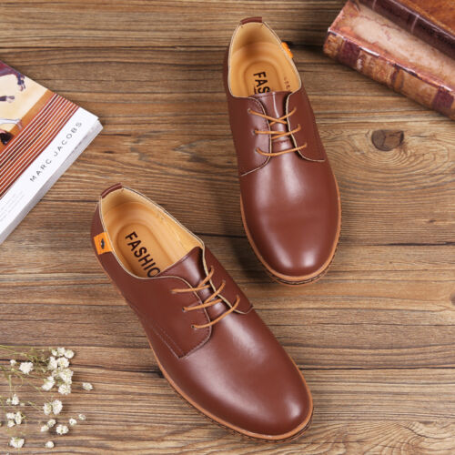 Men/'s oxfords Leather Shoes Business Casual British style Dress Formal Lace Up