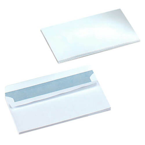 5 Star Office Envelopes Wallet Self Seal 90gsm White DL Pack 500