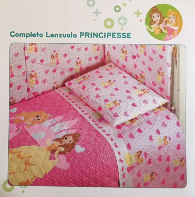 Lenzuola Delle Principesse Disney.Lenzuola Disney Caleffi Culla Lettino Doghe Principesse Rosa