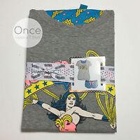 PRIMARK Ladies DC Comics WONDER WOMAN T-Shirt AND Shorts Pyjamas PJ SET