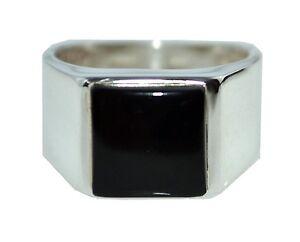 Boys  Rectangular Signet Ring All sizes Genuine 925 Sterling Silver Mens