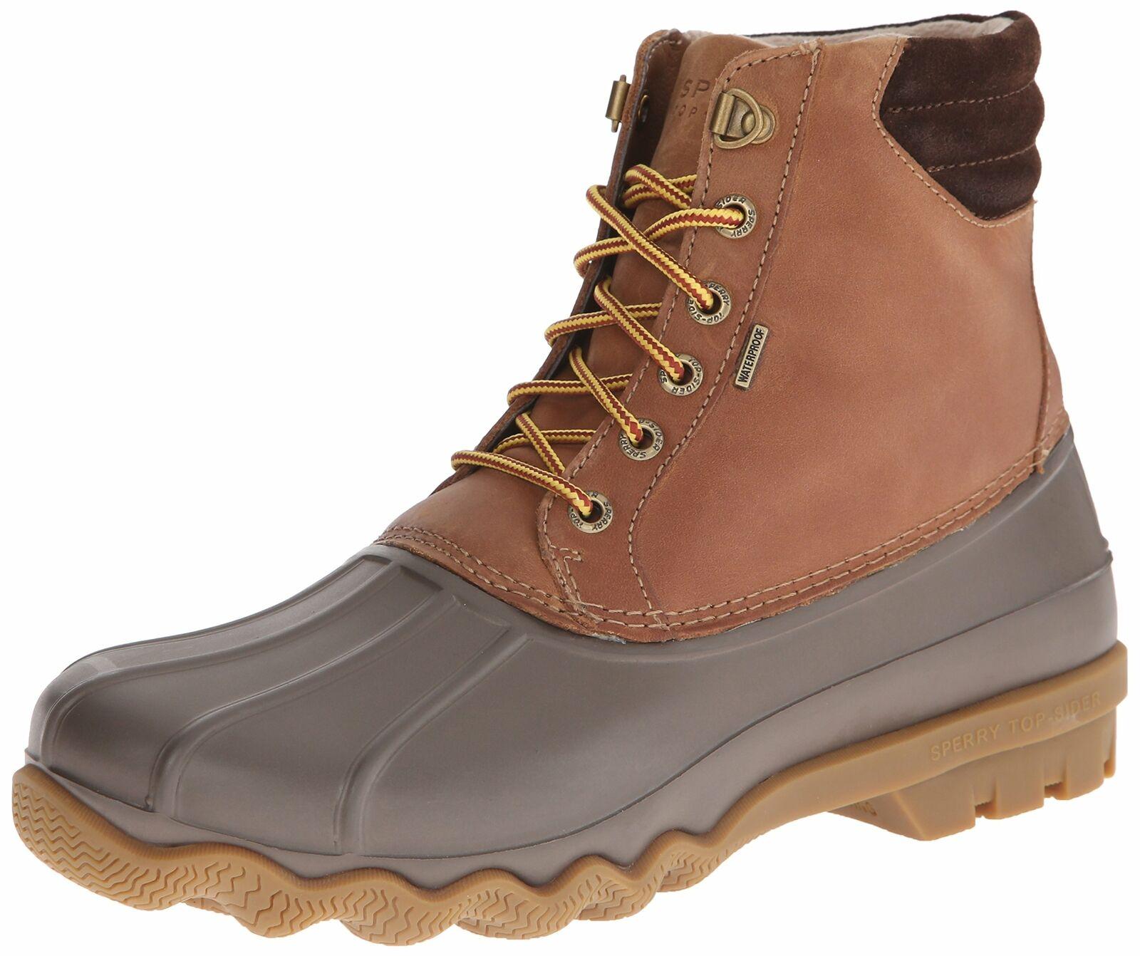 Sperry Men's Avenue Duck Rain Boot Tan Brown