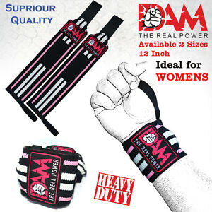 DAM-WOMEN-WEIGHT-LIFTING-GYM-TRAINING-WRIST-SUPPORT-STRAPS-WRAPS-BODYBUILDING