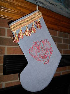 image is loading dragon asian style handmade embroidered christmas stocking free