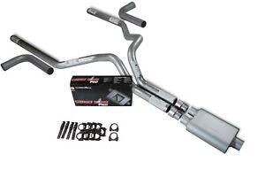 "Dodge Ram 1500 94-03 2.5/"" Dual Exhaust Kits Cherry Bomb Extreme Slash Tip Side"
