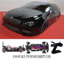 1/10 Scale BMW M5 RTR Custom RC Drift Cars 4WD 2.4Ghz & Charger GLOSS BLK