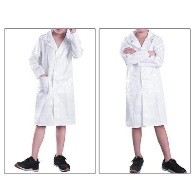 GroßZüGig Arztkittel Lang Laborkittel Kostüm Arztkostüm Artz Labor Kittel Für Kinder Weiß