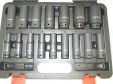 "16pc 1/2"" Dr 6 Point European Deep Impact Socket Set 10- 32mm US PRO 1340"
