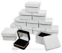 12 Piece Double Ring Black Velvet Jewelry Gift Box Gold 2 3/8w X 2d X 1 1/2h