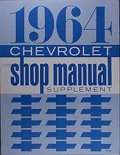 Best 1964 Impala Bel Air Biscayne Shop Manual 64 Chevy Chevrolet Repair Service