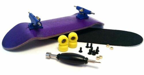 Blue Trucks Blue Wheels SFB 30mm Purple Complete Wooden Fingerboard