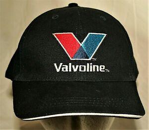 """Valvoline Trusted Oil """"V"""" Logo Racing Baseball Navy Blue Hat New OSFM"""