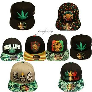 6cccf521add Image is loading Cannabis-snapback-caps-weed-flat-peak-hats-marijuana-