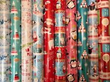 40M CHRISTMAS GIFT WRAP ASSORTED 4m 5m 10m 12m ROLLS WRAPPING PAPER ROLL PRESENT