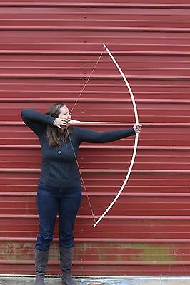 """Handcrafted Traditional English Style longbow made of Hickory  45lbs  @28"""""""