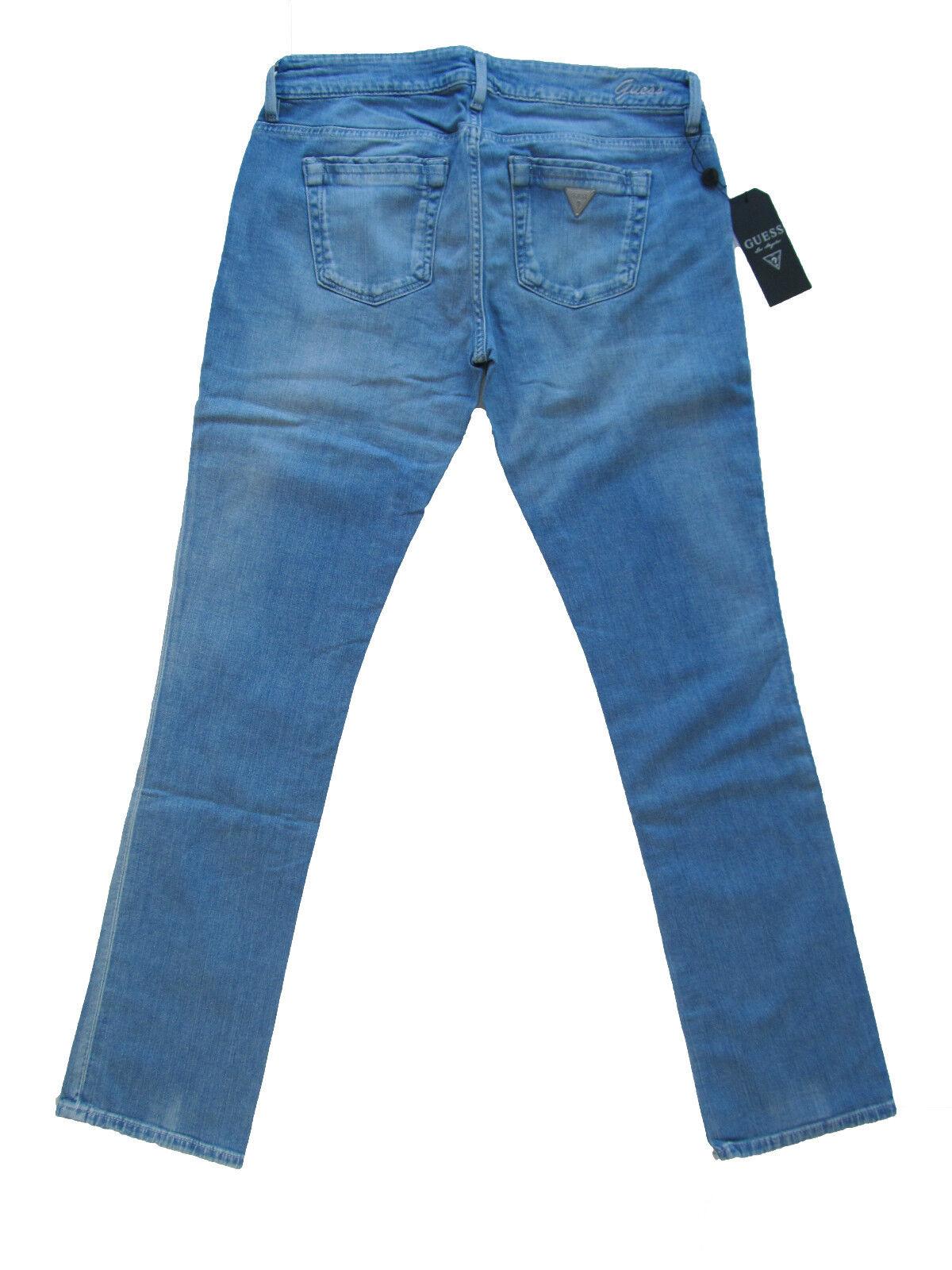 Guess Jeans Hose Pants Starlet Skinny Leg Slim Fit Blau W21125 Neu 31 32