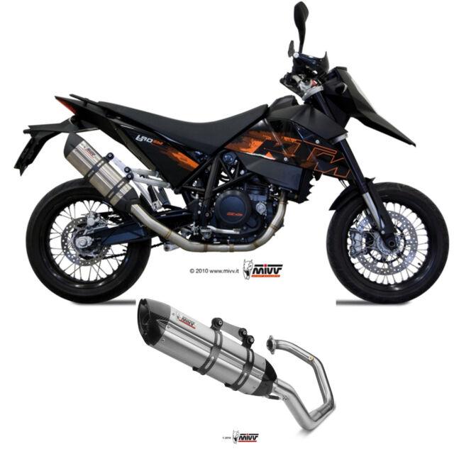 Echappement Complete Mivv Ktm 690 Sm 2011 11 Moto Stainless Steel