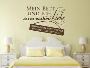 Wandtattoo Wandsticker Schlafzimmer Sprüche Mein Bett Und Ich Nr 1 ... Schlafzimmer Sprche