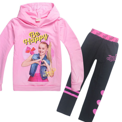 JoJo Siwa Kids Girls Hoodies New Casual Cartoon Hoodies Sweatshirt TrackSuits