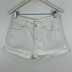 Assembly Label Womens Denim Shorts 10 White