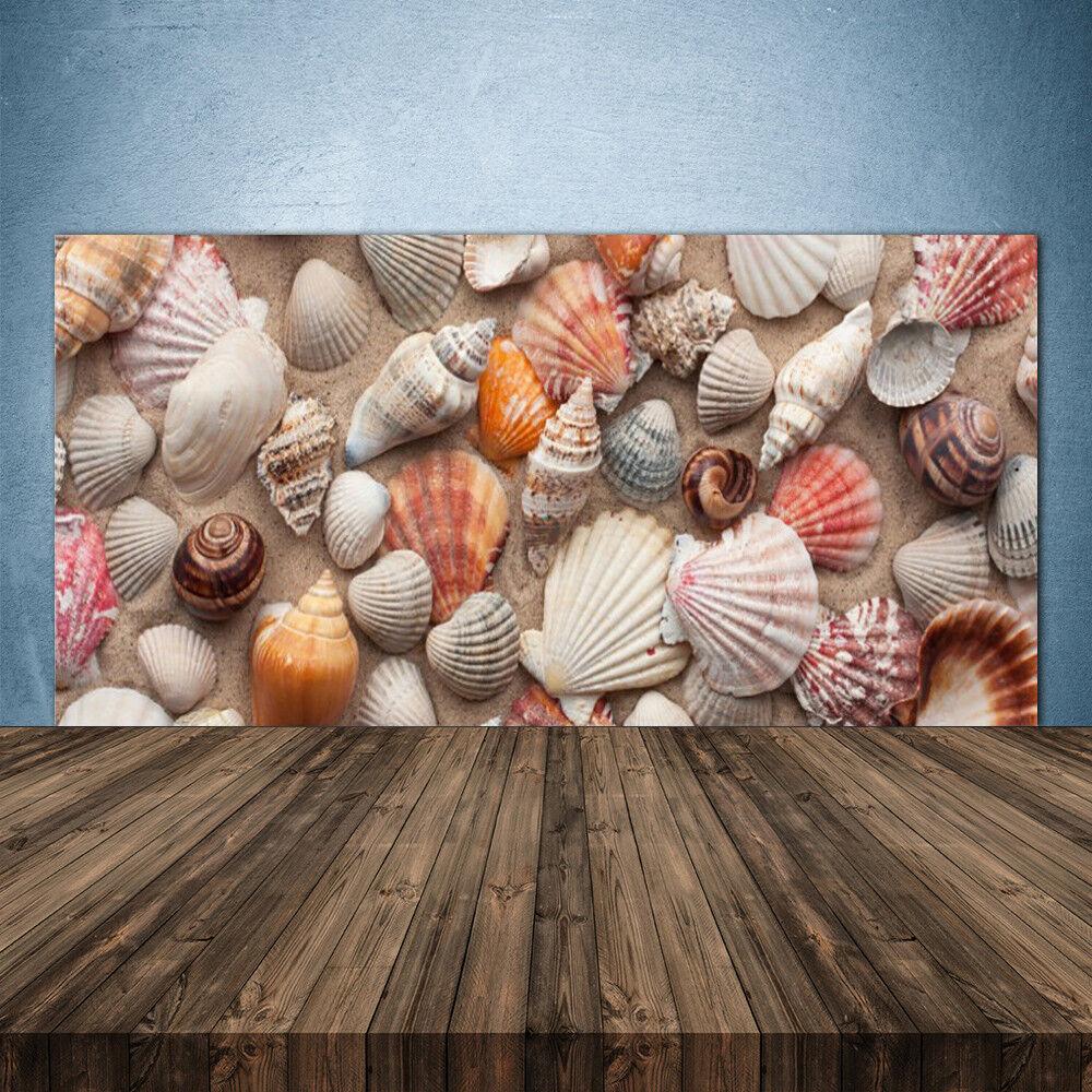 Vidrio Templado Cocina salpicaduras 140x70 Arte mariscos