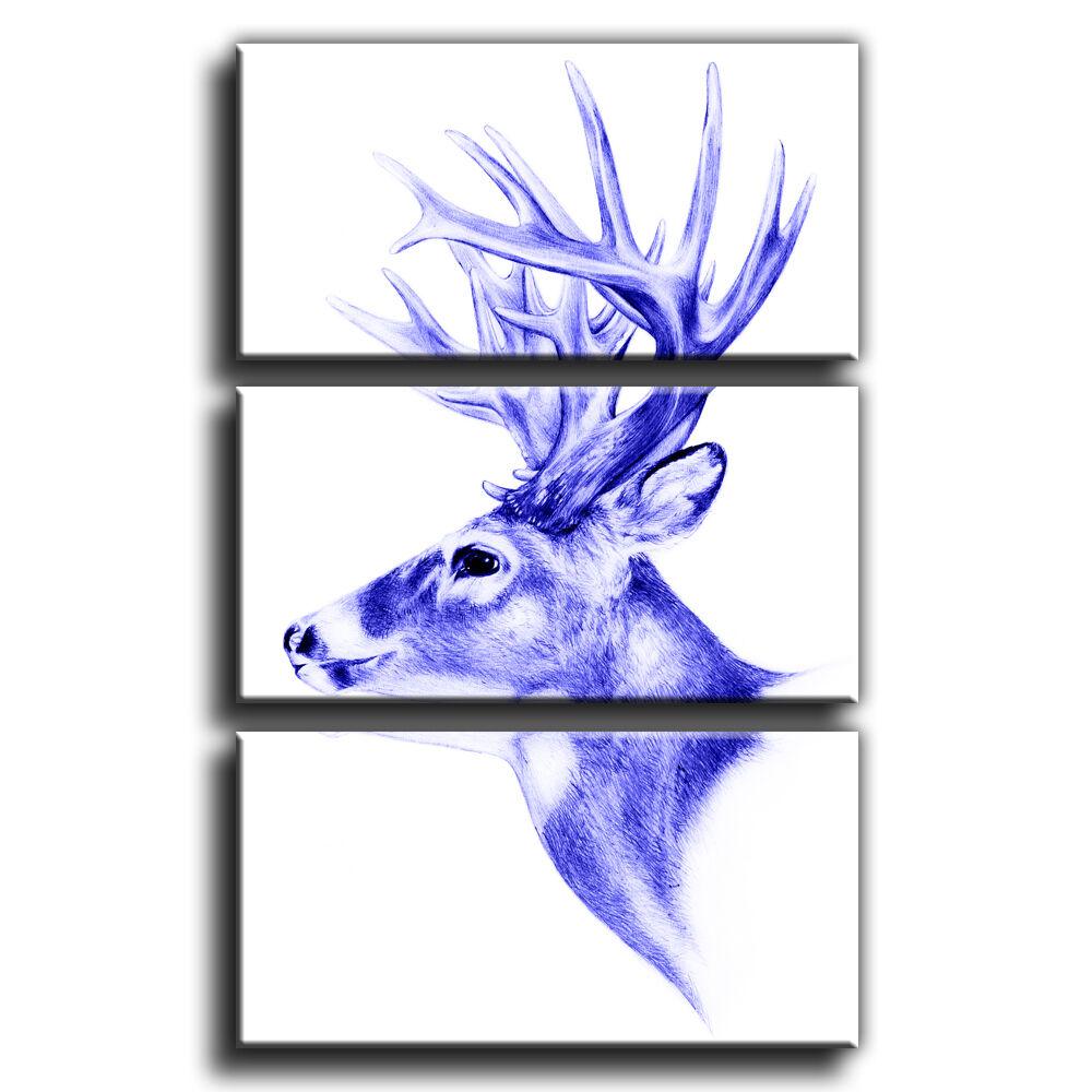 Résumé stag head treble toile murale art photo 8 print 8 photo galerie grade 97e59d