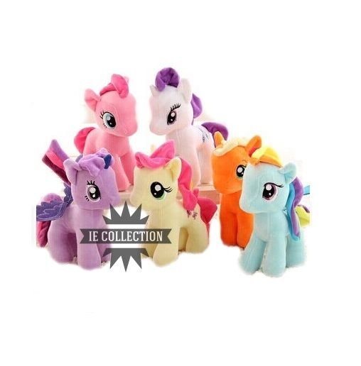 MY LITTLE PONY PELUCHE BABY PUPAZZI rainbow dash rarity twilight sparkle rosaie