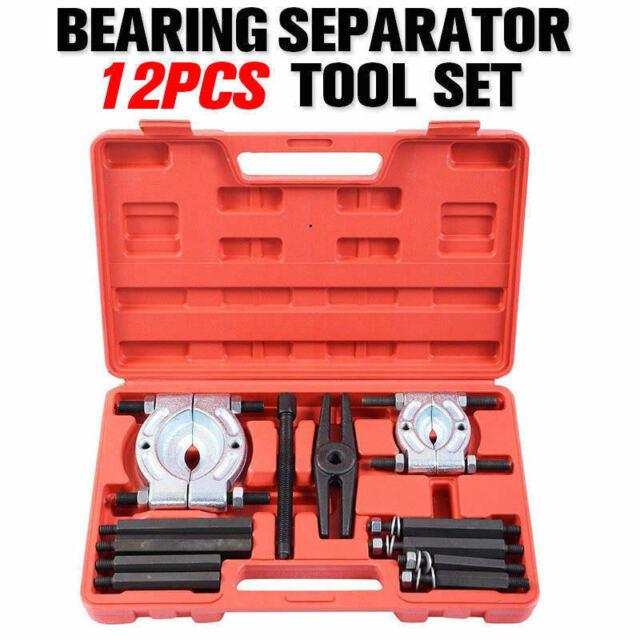 12PCS Bearing Splitter Gear Puller Fly Wheel Separator Set Tool Kit Box AU Stock