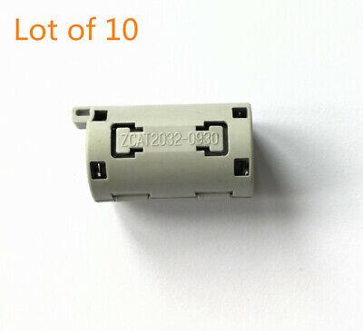 10X TDK Φ9mm AV Data Cable RFI//EMI Filtering Magnetic Ring Shield ZCAT2035-0930A