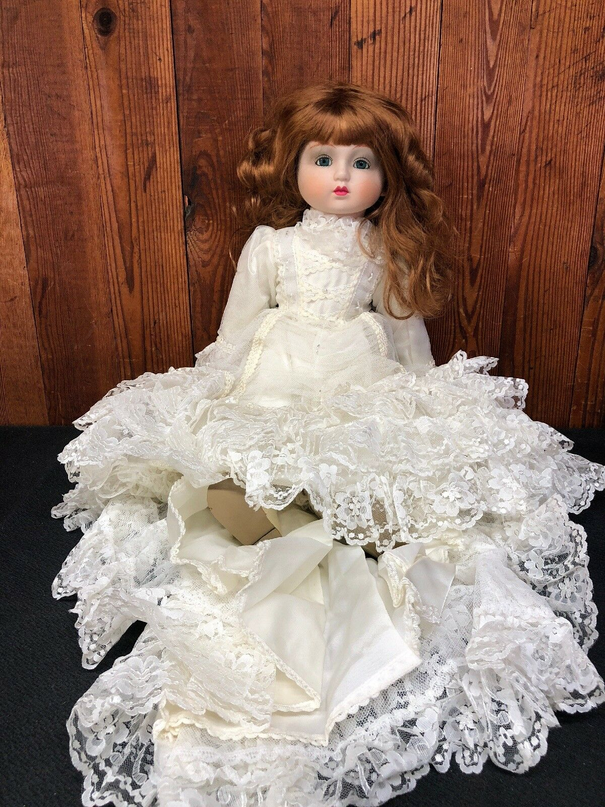 Porcelain Bride Doll- 2 Foot Doll- Beautiful Train and Veil