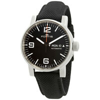 Fortis Spacematic Automatic Black Dial Men's Watch (Black)